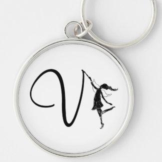 Art Fairy Inital: V Keychain