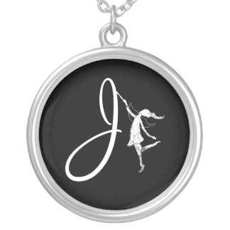 Art Fairy Initial: J Silver Plated Necklace