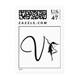 Art Fairy Initial: V Postage