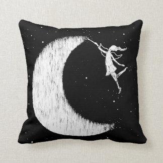 Art Fairy: Paint The Moon Throw Pillow
