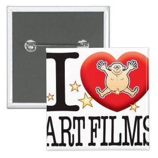 Art Films Love Man 2 Inch Square Button
