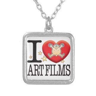 Art Films Love Man Square Pendant Necklace