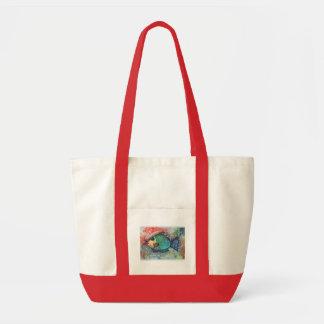 Art, Fish Art, Abstract  Tote Bag with Fish Orange