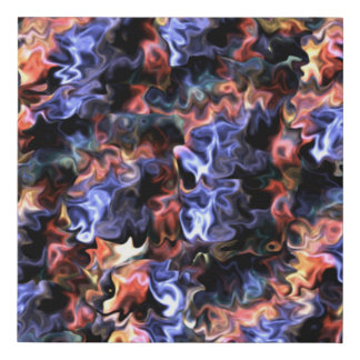 Art Flair Abstract Wavy Swirls 2539BR Faux Canvas Print