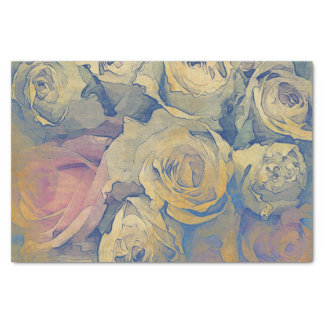 "art floral vintage colorful background 10"" x 15"" tissue paper"