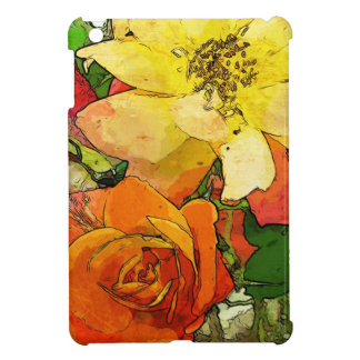 art floral vintage colorful background 2 iPad mini case