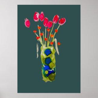 Art Flower Arrangement Poster