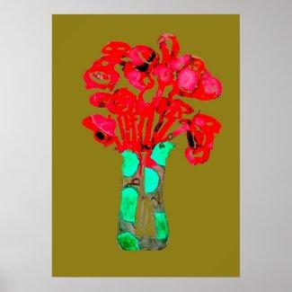 Art flower  poster
