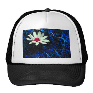 Art flower trucker hat