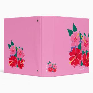 Art Folder: Hibiscus Pink 1.5inch 3 Ring Binder