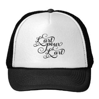 Art for art, French slogan, text design Mesh Hats