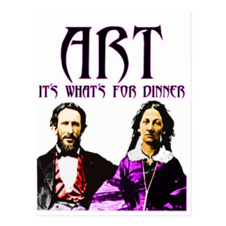 Art for Dinner Postcard