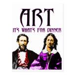 Art for Dinner Postcards
