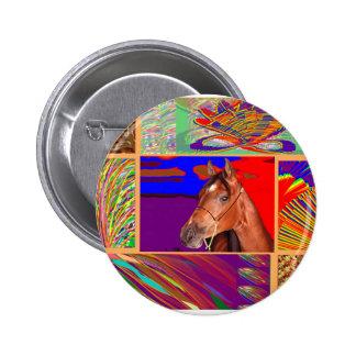 Art for HORSE Sense 2 Inch Round Button