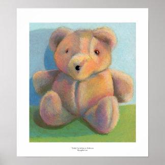 Art for kids teddy bear fun plush stuffed animal poster