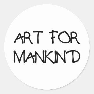 ART_FOR_MANKIND CLASSIC ROUND STICKER