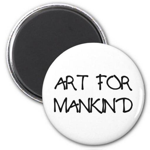 ART_FOR_MANKIND IMÁN REDONDO 5 CM