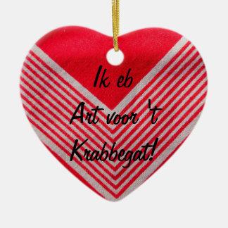 Art for t Krabbegat Ceramic Ornament