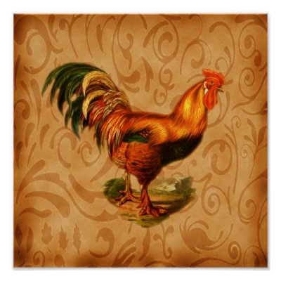 Ornate Rooster Country Kitchen Wall Decor Zazzle