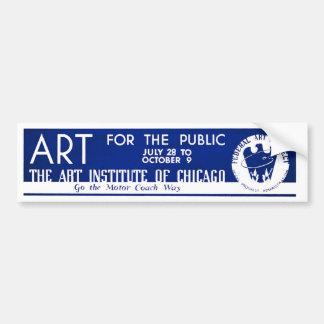 Art for the Public  - WPA Poster - Car Bumper Sticker