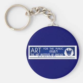 Art for the Public  - WPA Poster - Basic Round Button Keychain