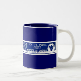 Art for the Public  - WPA Poster - Two-Tone Coffee Mug