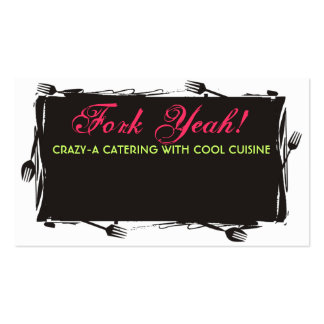 art forks dining culinary catering business car... Double-Sided standard business cards (Pack of 100)
