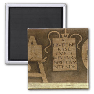 Art, from 'The Liberal Arts' cycle (fresco) 2 Inch Square Magnet