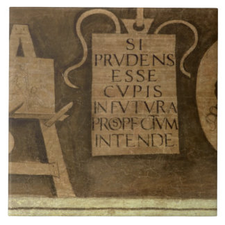 Art, from 'The Liberal Arts' cycle (fresco) Ceramic Tile