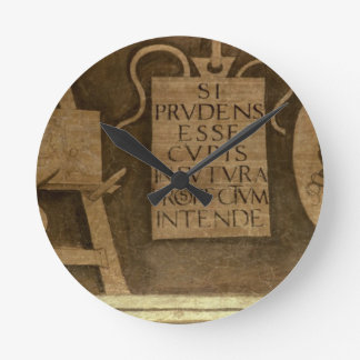 Art, from 'The Liberal Arts' cycle (fresco) Round Clock
