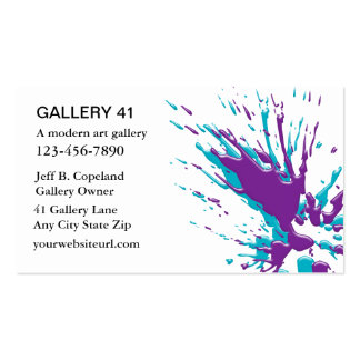 Art Gallery Business Cards