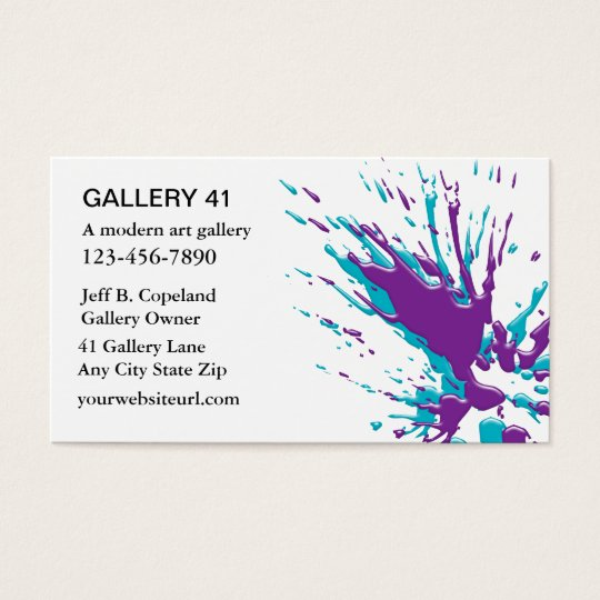 Art gallery business cards zazzle art gallery business cards reheart Images