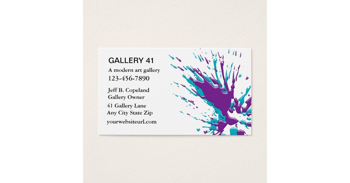 Art Gallery Business Cards | Zazzle.com