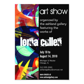 art gallery invitation