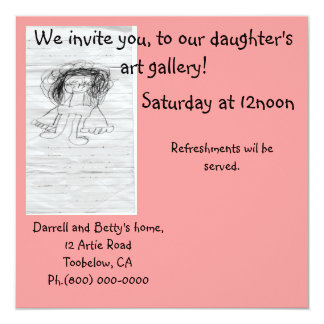 Art gallery Invitation