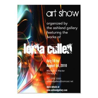 art gallery invitation - flow