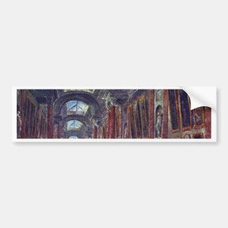 Art Gallery Of The Louvre Detail By Robert Hubert Bumper Sticker