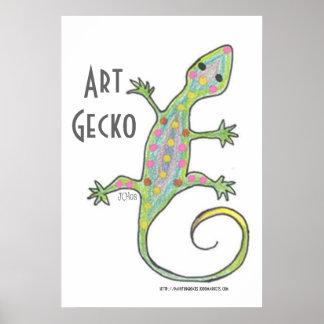 Art Gecko Original Art Poster