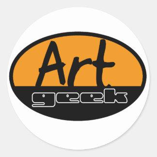 art geek classic round sticker