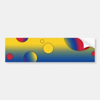 Art Gifts for Colombians: Flag Colors of Colombia Car Bumper Sticker