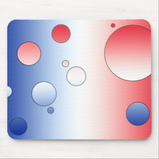 Art Gifts for French People: Flag Colors of France Mouse Pad