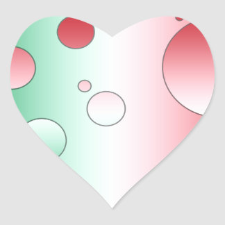 Art Gifts for Italians: Flag Colors of Italy Heart Sticker