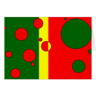 Art Gifts for Portuguese: Flag Colors of Portugal Greeting Card