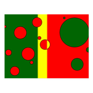 Art Gifts for Portuguese: Flag Colors of Portugal Postcard