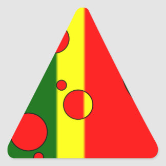 Art Gifts for Portuguese: Flag Colors of Portugal Triangle Sticker