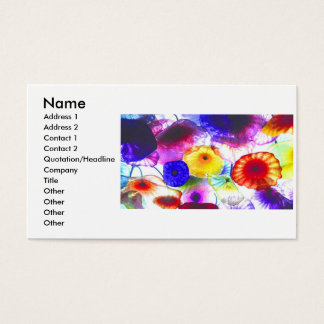 art glass 1, Name, Address 1, Address 2, Contac... Business Card