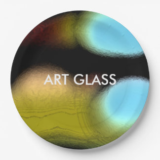 """""""ART GLASS"""" Design by Carole Tomlinson©2016 Paper Plate"""