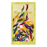 Art Glass Leaves Colorful Business Card