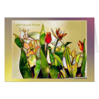 Art Glass Tulip Ground Modern Card