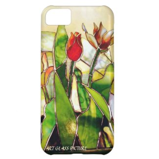Art Glass Tulip Lovely Barely There iPhone 5C Cover